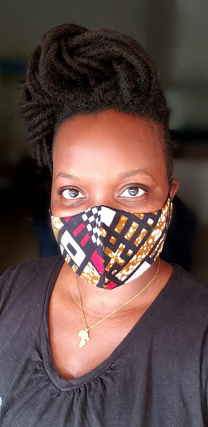 African Print mask Style 6