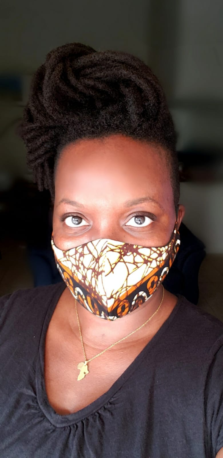 African Print mask Style 5