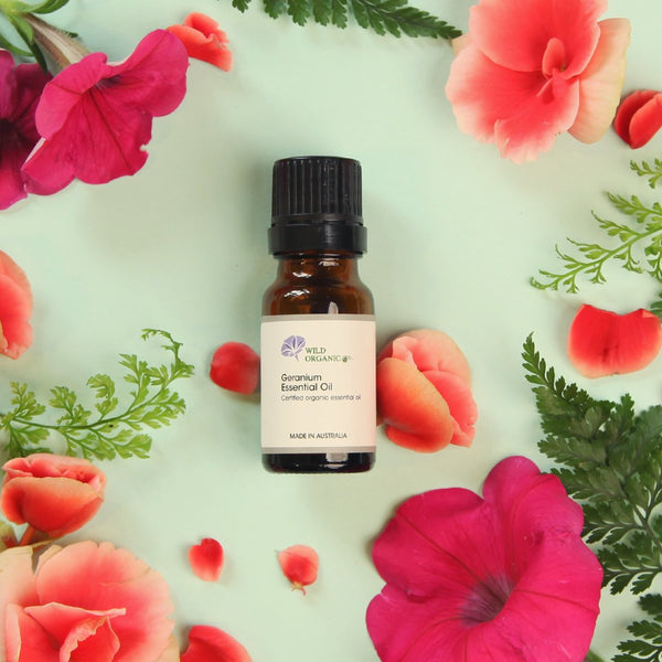 Geranium - Detoxifying and Reducing Puffiness - Wild Organic