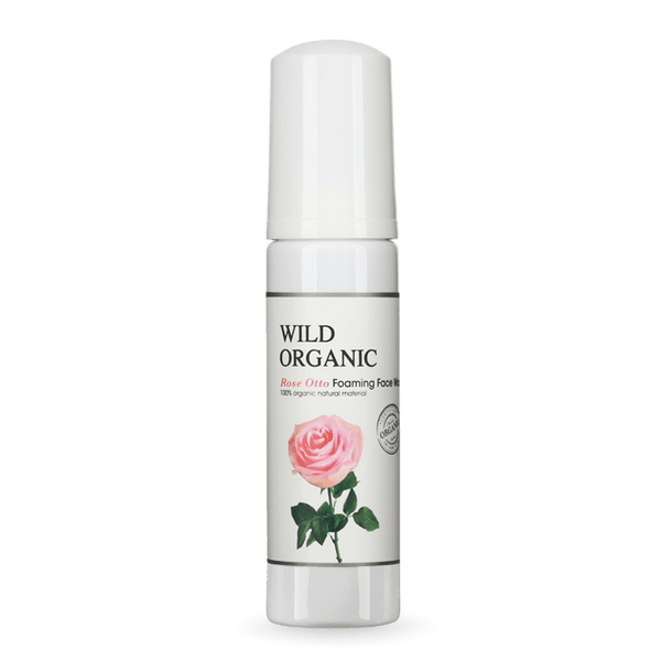 有機奧圖玫瑰保濕潔面泡泡 - Rose Otto Foaming Face Wash - Wild Organic