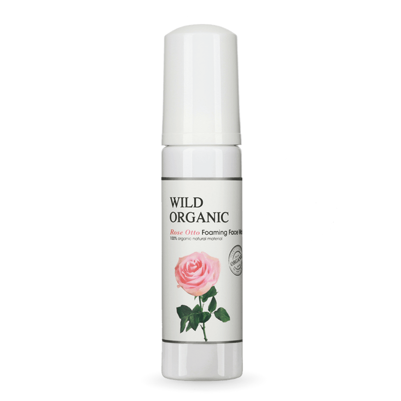 Rose Otto Foaming Face Wash - Wild Organic