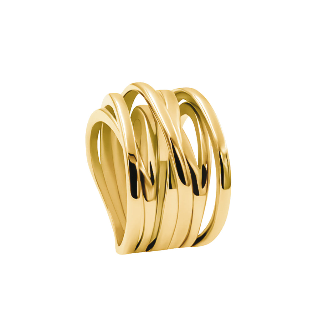 ANILLO CROSSED ORO
