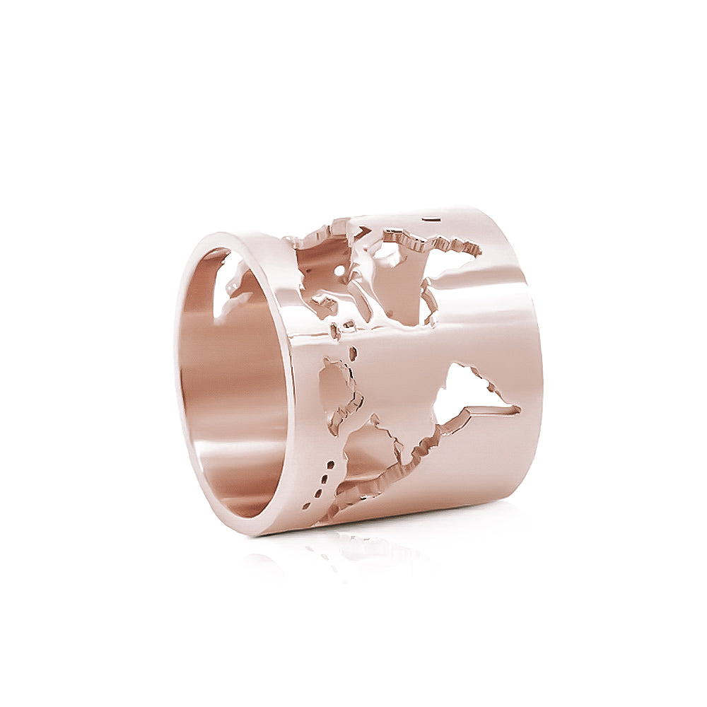 ANILLO WORLD ORO ROSA