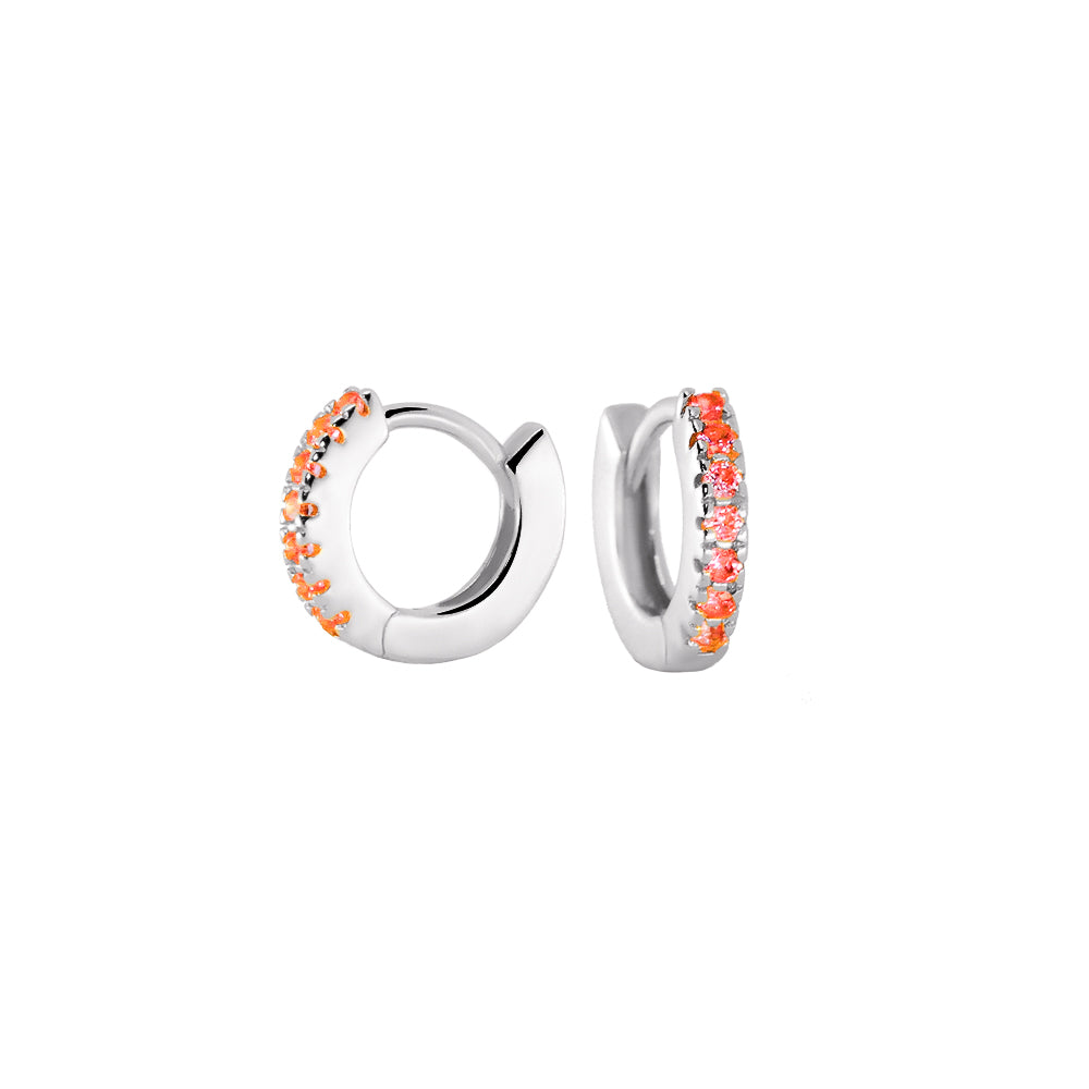 Pendientes Hale Bopp Orange Silver