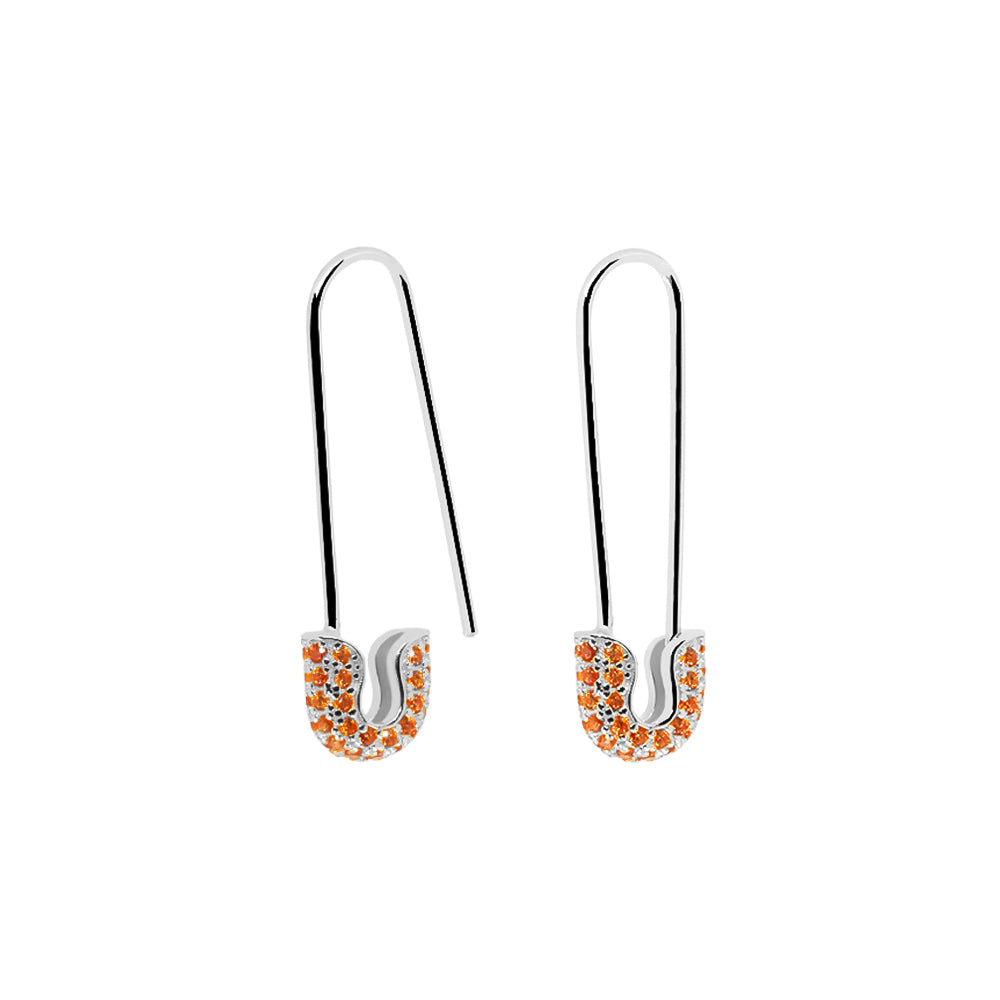 Pendientes Halley Orange Silver