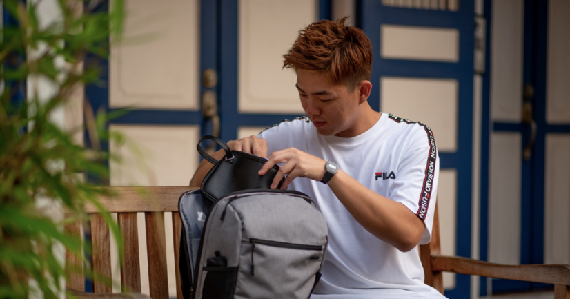 Qing Hong and AGVA Traveller Daypack Grey Entrepreneur Resilience