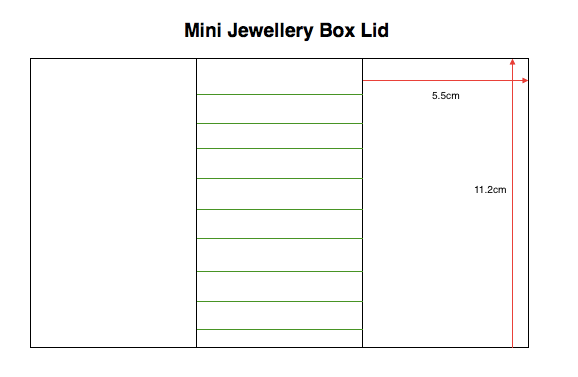 Stackers Mini Jewellery Box Lid Internal Dimensions