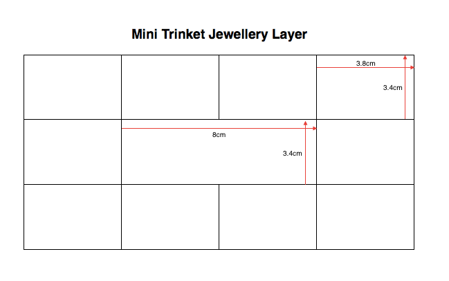 Stackers Mini Trinket Jewellery Layer Internal Dimensions
