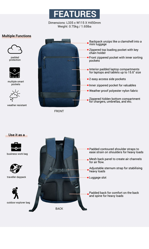 agva traveller daypack features buy now