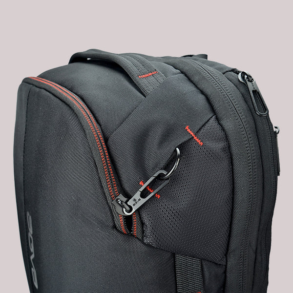 agva roadtripper bag security lockable zipper added at the front of the back to deter theft