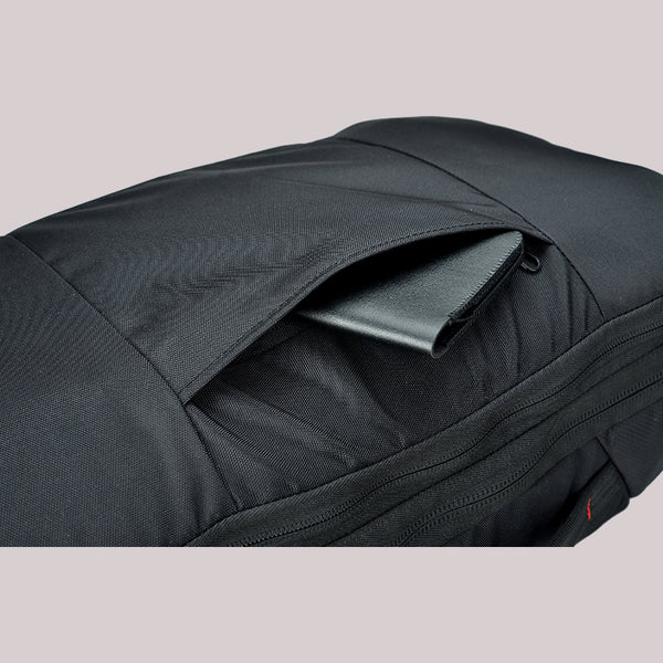 agva roadtripper bag theft deterrent with secret hidden zippered back pocket