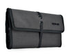 Portable travel organizer folder into compact travel pouch