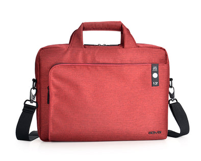 AGVA Heritage Carry Case is a sleek laptop briefcase with three separate spacious compartments for easy organization and convenient pocket access. With a removable shoulder strap and a sturdy top handle, the heritage laptop case and be a briefcase, attache or a carry case. The red laptop carry case makes a great female laptop bag for the working professionals.