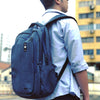 The Heritage Backpack is made for the urban traveler, the day tripper, the entrepreneur, the engineer, the go-getter. AGVA weather-resistant laptop backpack has three separate spacious compartments inside for easy organisation of all personal and business belongings. Ergonomic and padded shoulder straps for heavy duty usage of backpack