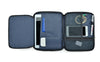 travel organizer with foldable organisational panels and mesh pockets