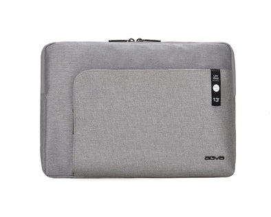 Despite the slim exterior, AGVA Heritage Carry Case is a laptop sleeve with three separate compartments for easy organization and convenient pocket access. Front zippered pocket for your accessories and back hidden zip pocket for your travel belongings