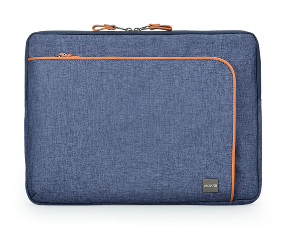 Super spacious, stylish and durable laptop sleeve with an organizational panel in the front zippered pocket for organization. Slim and sturdy for people with plenty of tech accessories. Multi-padded laptop sleeve. Front organizational pocket for your pockets and accessories weather proof, durable and lightweight sleeve