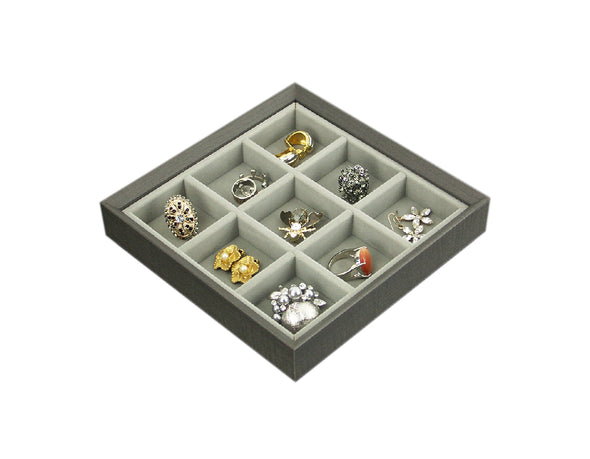 AGVA Jewellery Organiser - 9 Compartment Tray