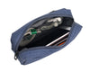Multipurpose gadget pouch made of soft polyester with organizational pockets