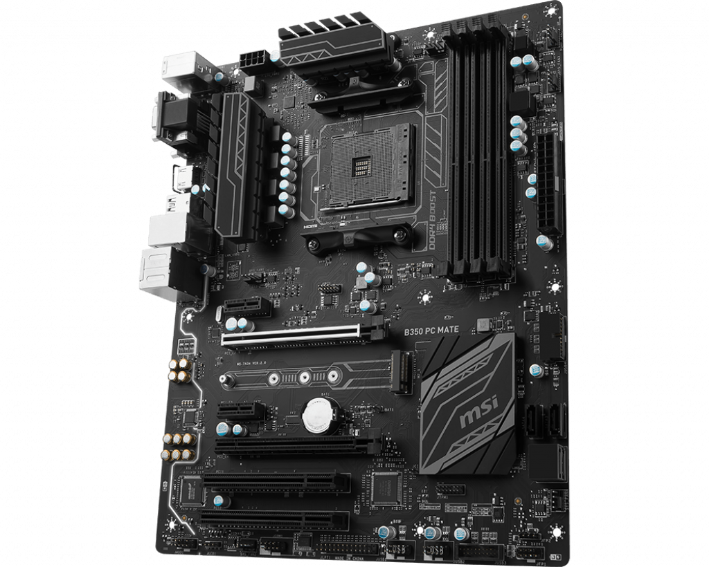 Motherboard AM4 MSI B350 PC Mate DDR4