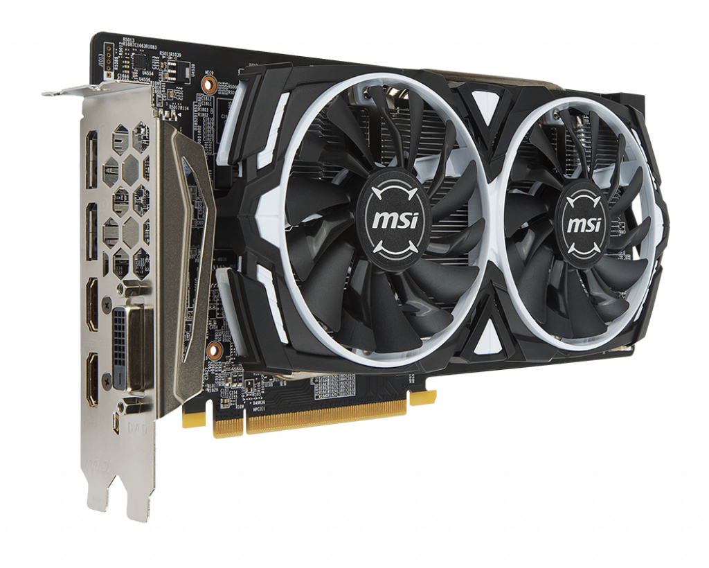 Video Card MSI Radeon RX 580 Armor 8G OC 8GB GDDR5 256bit