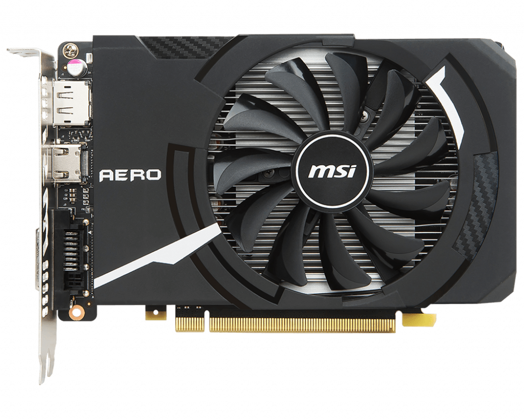 Video Card MSI GeForce GTX 1050 Ti AERO ITX 4G OCV1 4GB GDDR5 128bit