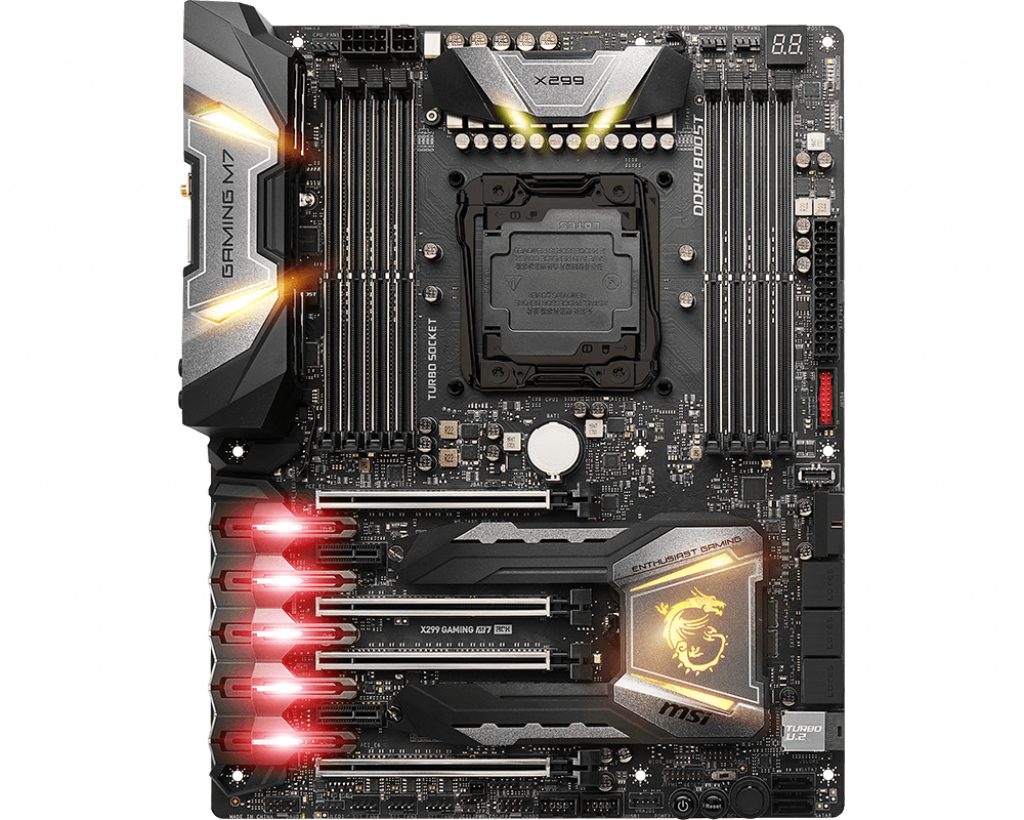 Motherboard 2066 MSI X299 Gaming M7 ACK DDR4