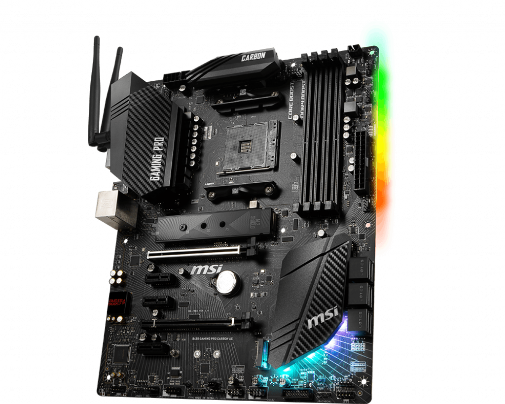 Motherboard AM4 MSI B450 Gaming Pro Carbon AC DDR4