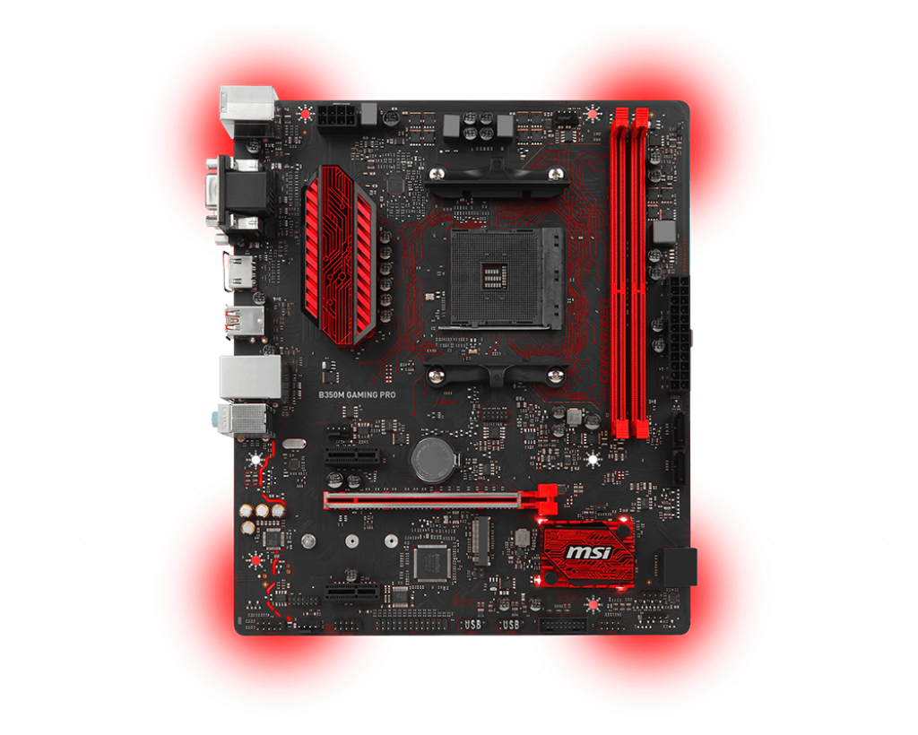 Motherboard AM4 MSI B350M Gaming Pro DDR4