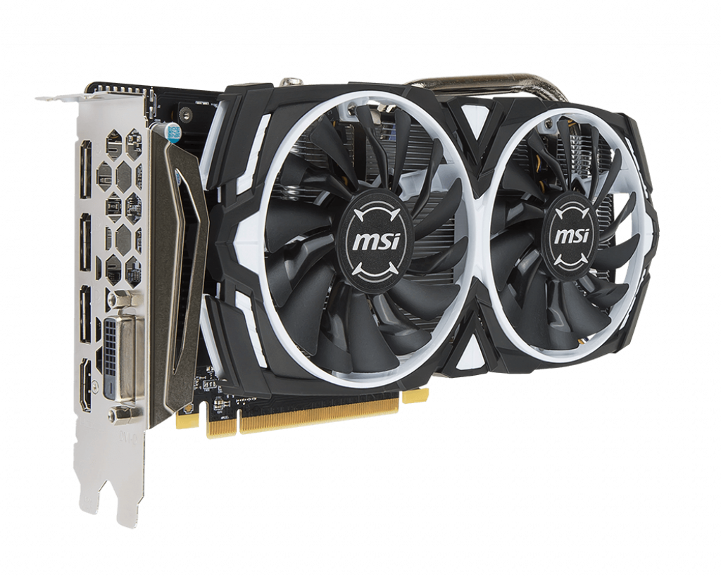 Video Card MSI Radeon RX 570 Armor 8G OC 8GB GDDR5 256bit