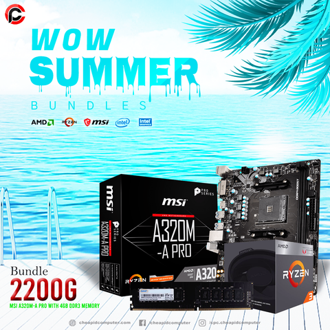 WOW Bundles - AMD Ryzen 3 2200G