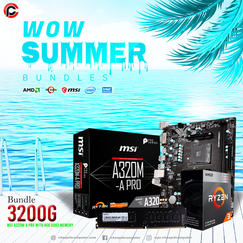 WOW Bundles - AMD Ryzen 3 3200G