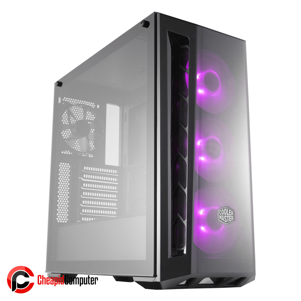 Casing Cooler Master MasterBox MB520 RGB Black Tempered Glass