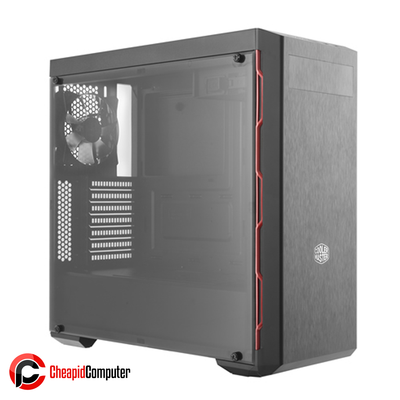 Casing Cooler Master MasterBox MB600L Black Steel Acrylic Side Red Trim with ODD