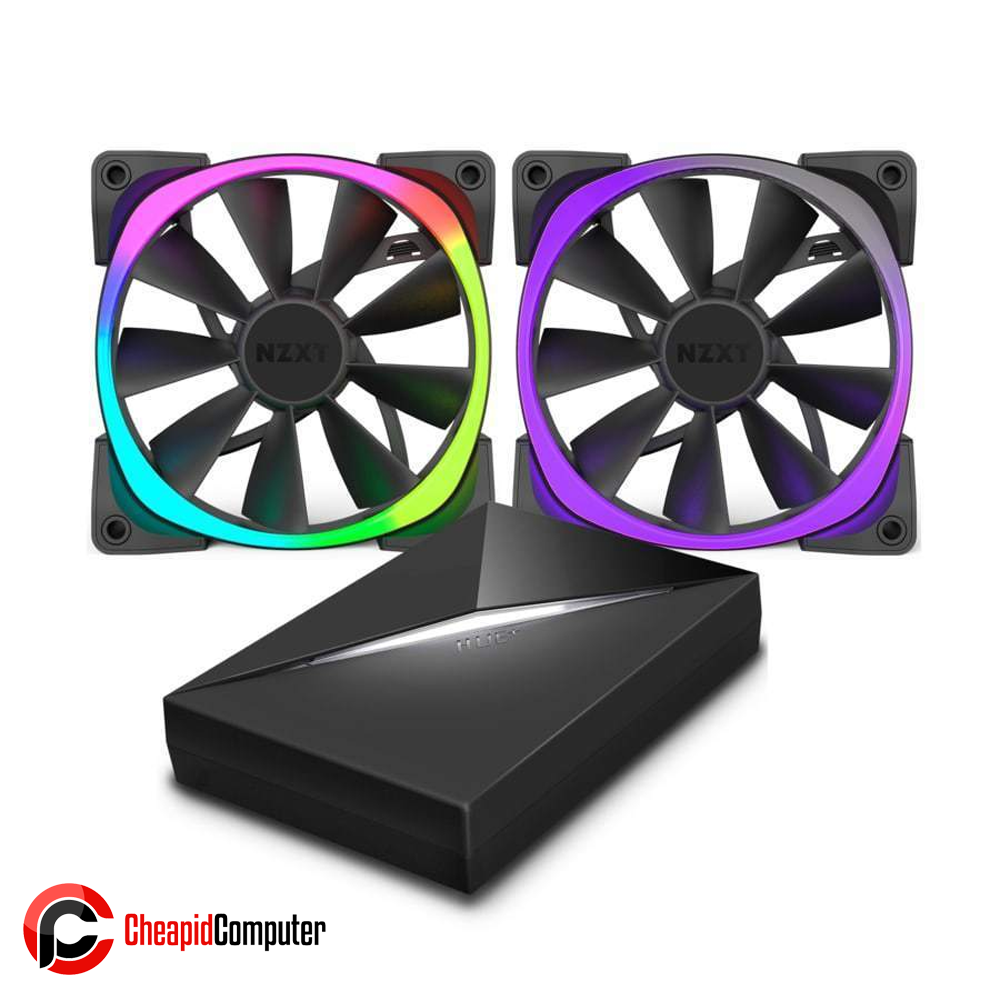 Cooler Fan NZTX Aer RGB & Hue+ 140mm (2 Fans Included) (RF-AR140-C1)