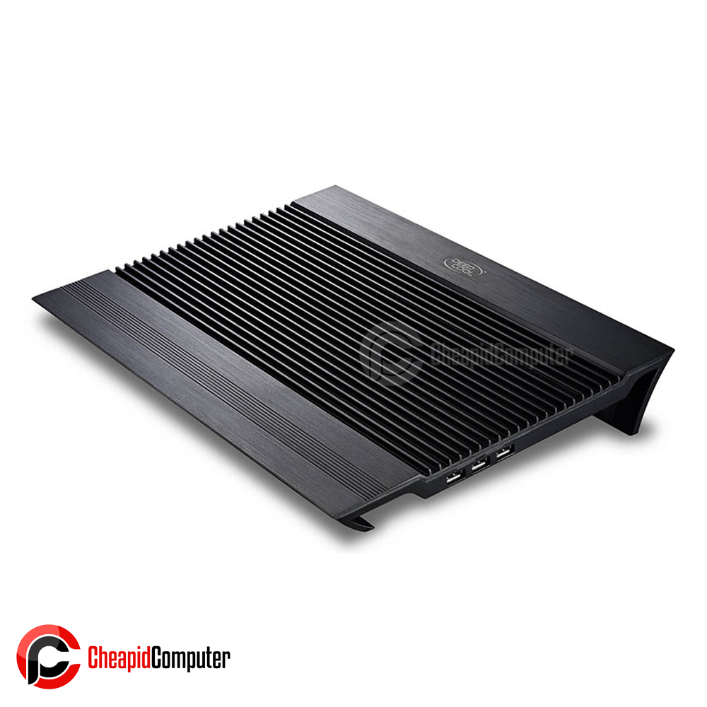 Cooler Laptop Deepcool N8 Black 17inch Pure Aluminum Panel Dual Fan