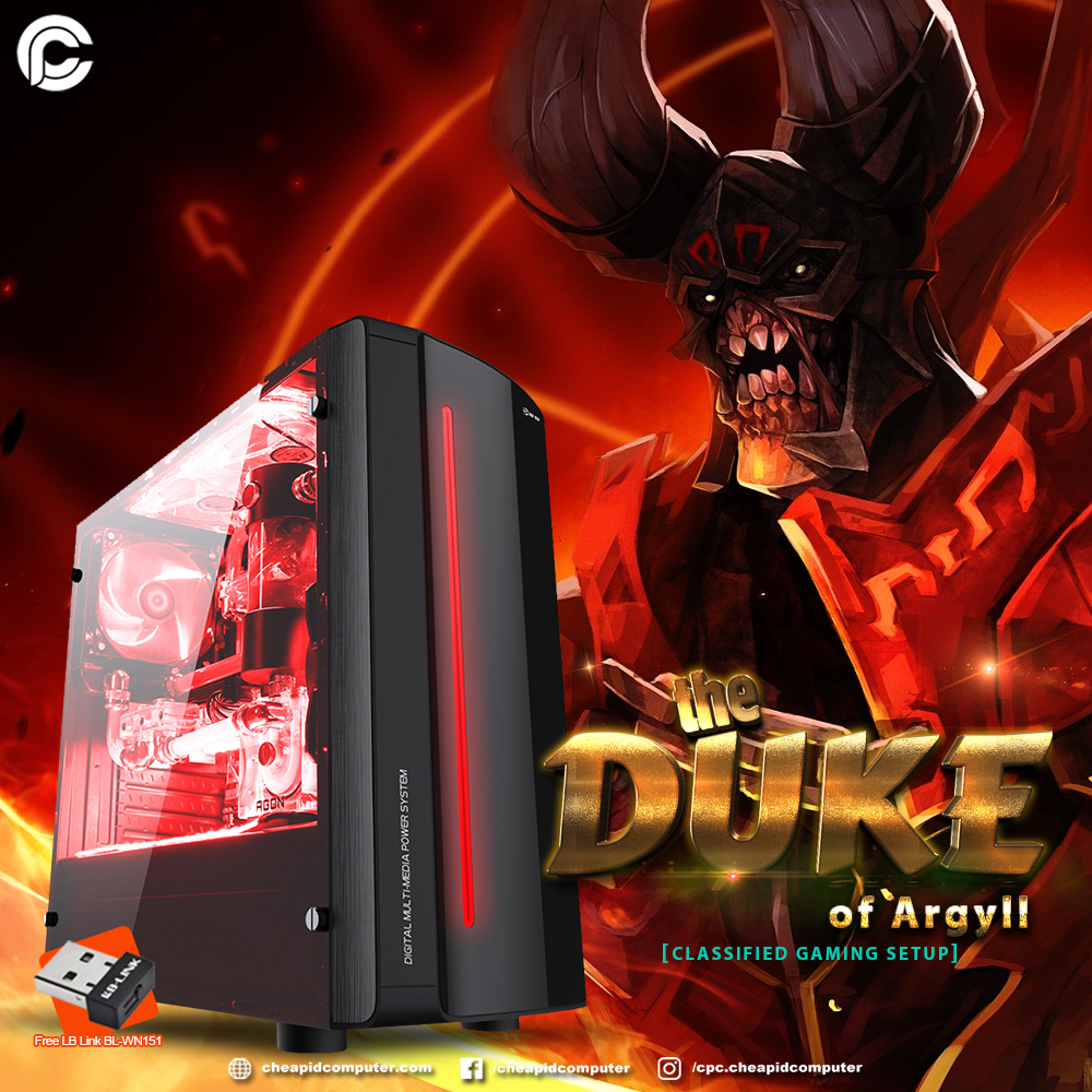 The Duke of Argyll Gaming Package - AMD Ryzen 3 2200G