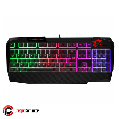Keyboard USB MSI Vigor GK40 RGB with Palm Rest Special Membrane Switches RGB