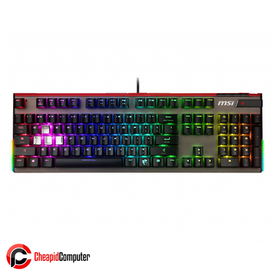 Keyboard USB MSI Vigor GK80 Cherry MX RGB Red Switches Mechanical Gaming