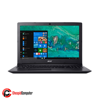 Laptop Acer Aspire 3 A315-41G-R5U3 Obsidian Black Ryzen 3 2200U 4GB DDR4 1TB HDD 15.6 Inch Win10