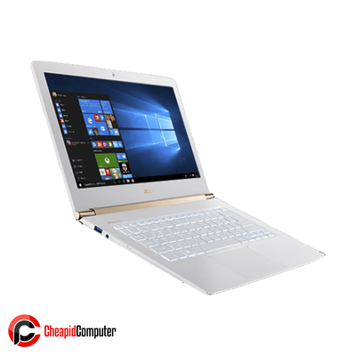 Laptop Acer Aspire S13 S5-371-74H1 Pearl White Core i7-6500U 4GB DDR3L 512GB SSD 13.3 Inch Win10