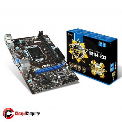 Motherboard 1150 MSI H81M-E33 DDR3