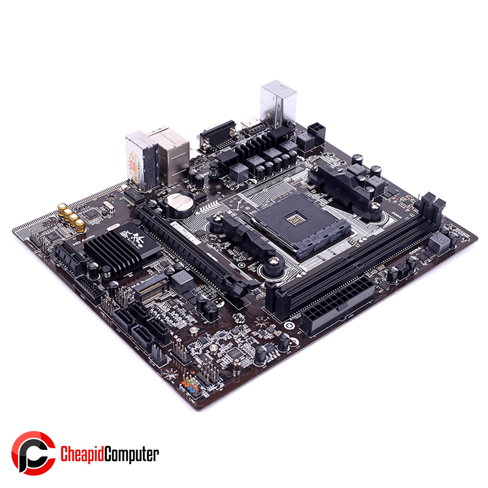 Motherboard AM4 Colorful Battle Axe C.A320M-D Plus YV14 DDR4