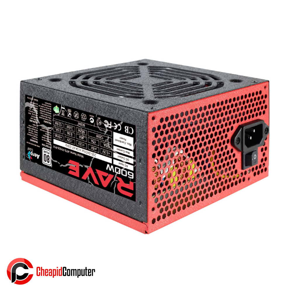 Power Supply Aerocool Rave 600W 80+