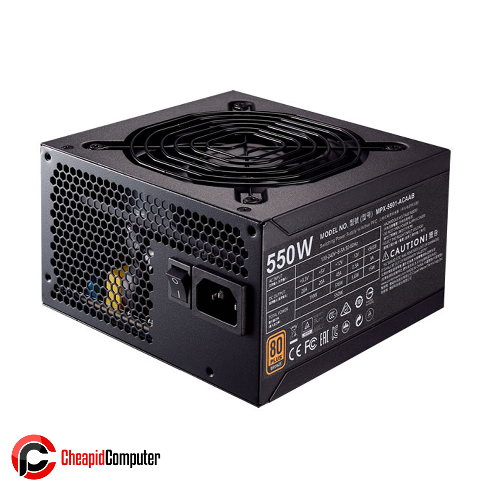 Power Supply Cooler Master MWE 550 550W 80+ Bronze Active PFC