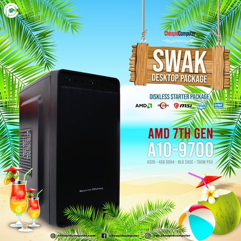 Swak Desktop Package - AMD A10-9700 7th Gen
