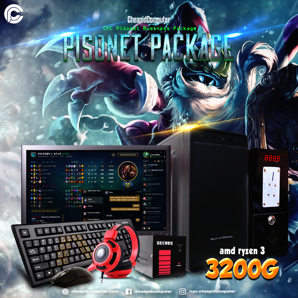 CPC Pisonet Package - AMD Ryzen 3 3200G