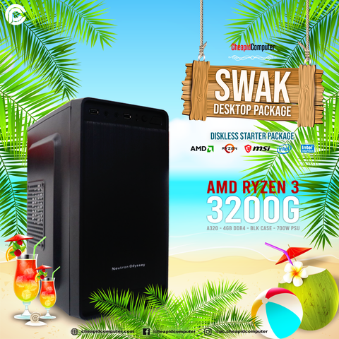 Swak Desktop Package - AMD 3rd Gen Ryzen 3 3200G