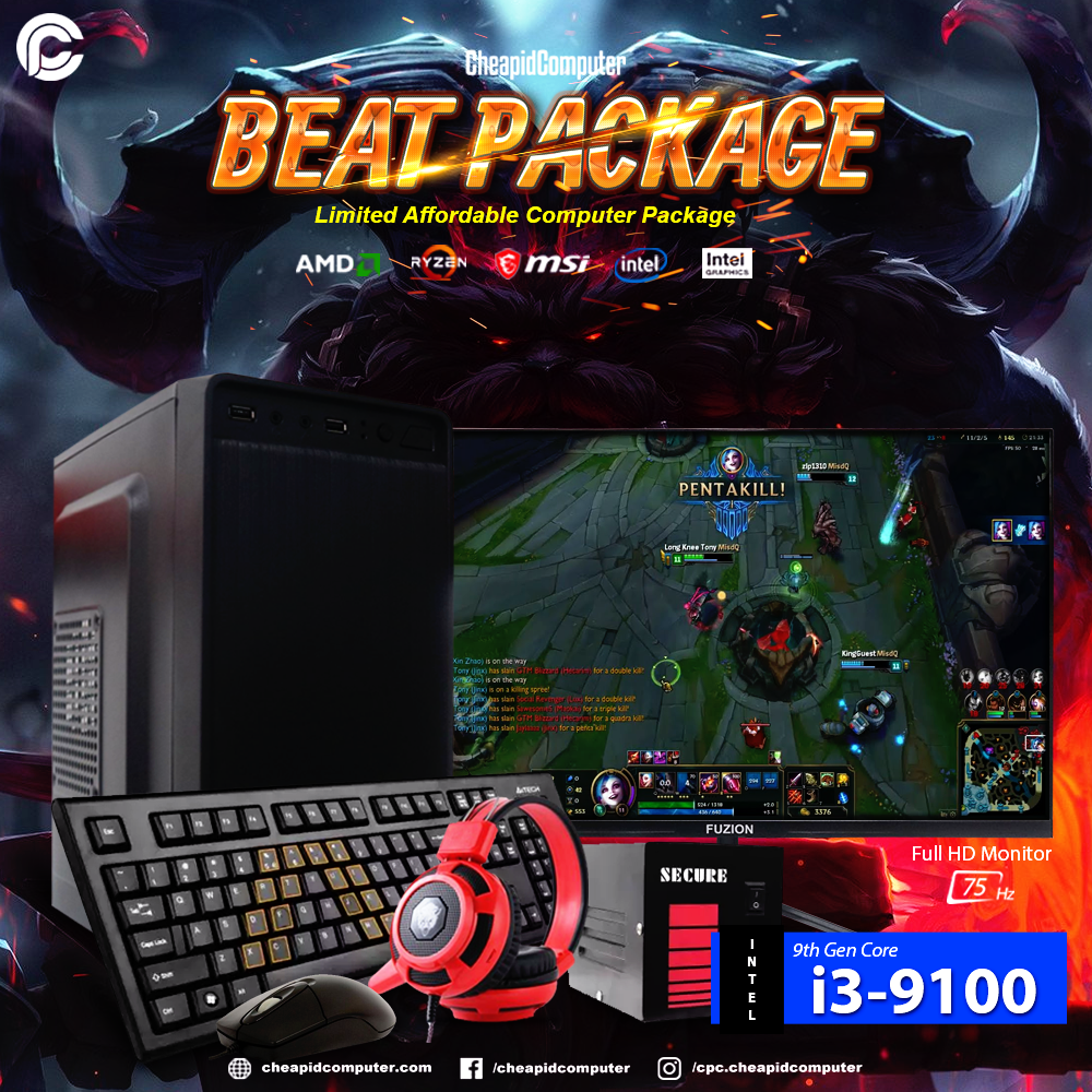 Beat Package - Intel Core i3-9100