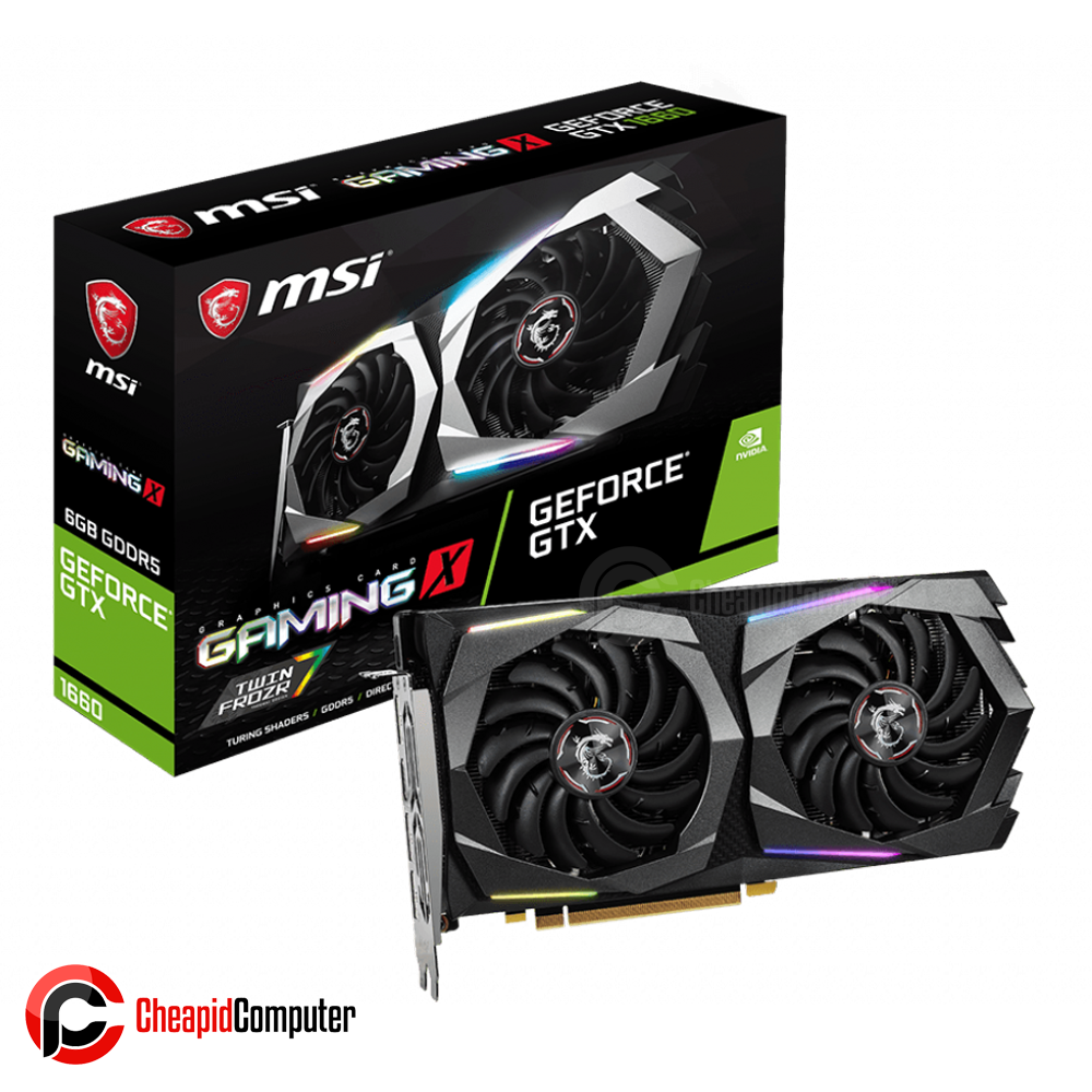 Video Card MSI GeForce GTX 1660 Gaming X 6G 6GB GDDR5 192bit
